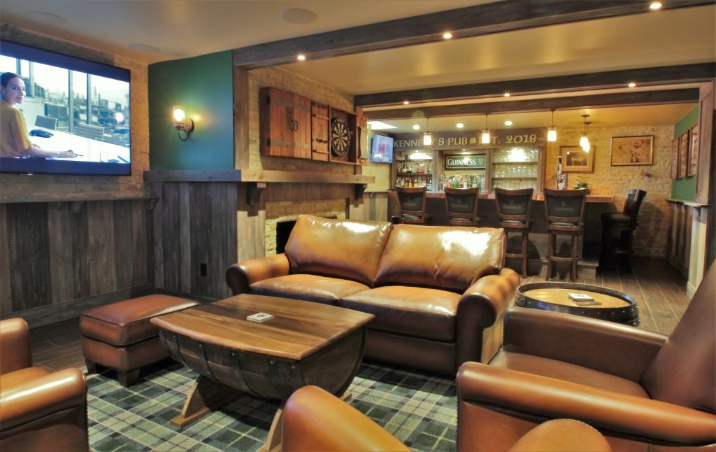 Cream City Construction - Milwaukee (Irish Pub) Lower Level TV Area. Photo courtesy of the Milwaukee NARI.