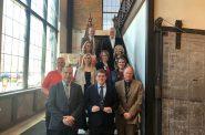 "Representative Mark Spreitzer receives the ""Champion of Economic Development"" award from the Wisconsin Economic Development Association at the Greater Beloit Chamber of Commerce. Photo courtesy of WEDA."