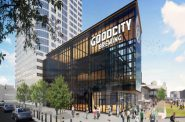 Good City Brewing at Live Block. Rendering by Rinka Chung Architecture.