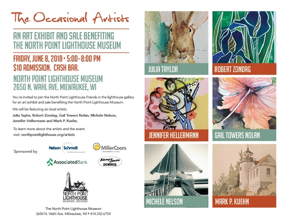 North Point Lighthouse to host the Occasional Artists Art Show and Sale, Friday, June 8.