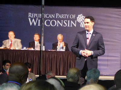 Walker, Republicans Warn of Blue Wave