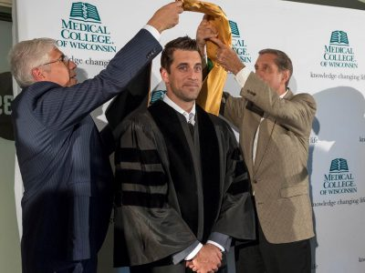 Aaron Rodgers Receives Honorary Degree from the Medical College of Wisconsin