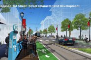 Walker's Point Streetcar Rendering - S. 1st St. - Rendering by City of Milwaukee