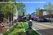 Walker's Point Streetcar Rendering - S. 2nd St. - Rendering by City of Milwaukee