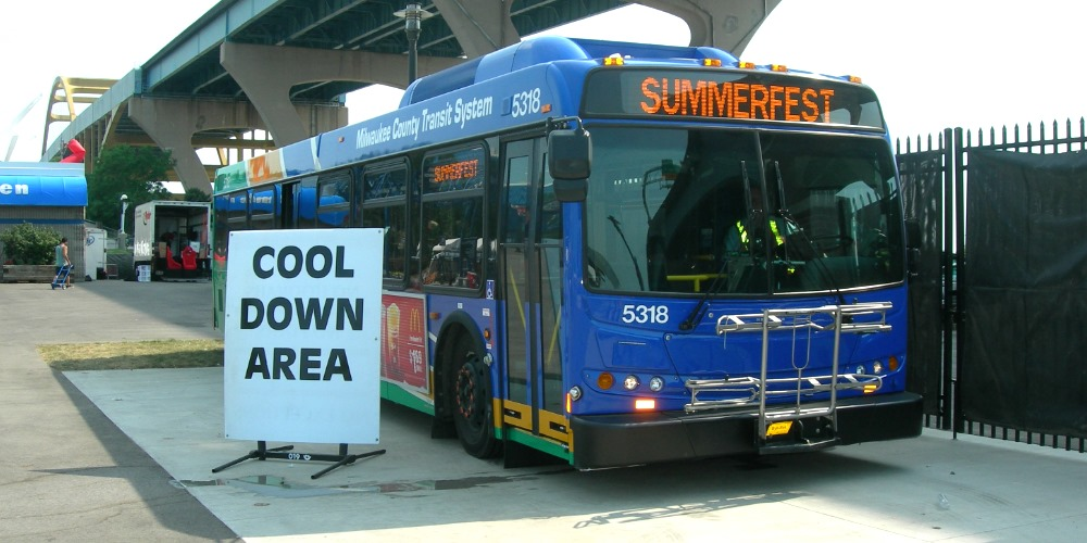 Cool MCTS Buses Helping Summerfest Visitors Beat the Heat
