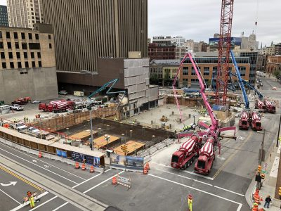 Eyes on Milwaukee: 25-Hour, 670-Load Concrete Pour for BMO Tower