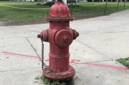 Fire hydrant in Cathedral Square Park. Photo by Jeramey Jannene.
