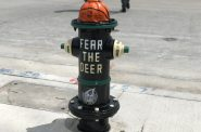 A Milwaukee Bucks fire hydrant. Photo by Jeramey Jannene.