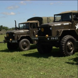 Military vehicles, such as these five- and 10-ton Vietnam-Era trucks, will be on display at the Father's Day Military Vehicle Display at Boerner Botanical Gardens. Photo from Milwaukee County Parks.