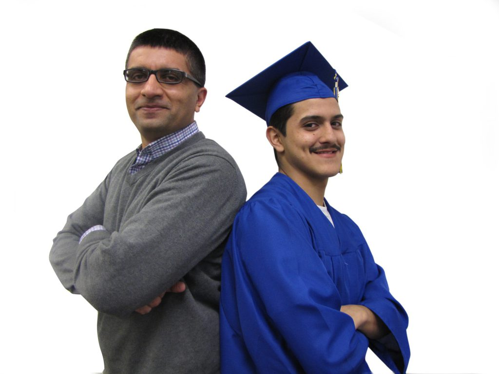 Hesham Sheikh and Jonny. Photo courtesy of the Nonprofit Center of Milwaukee.