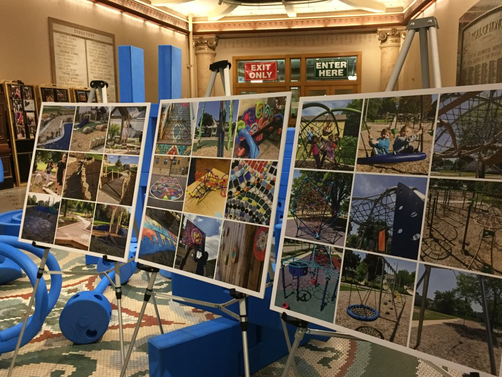 MKE Plays displays Milwaukee parks that were recently renovated by the city park program. Photo by Cynthia Crawford.