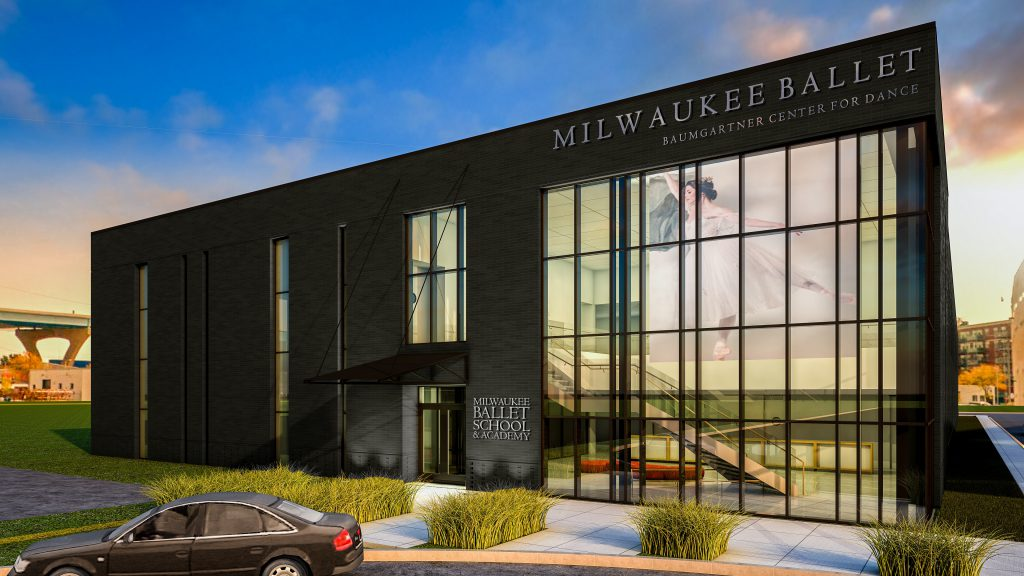 Milwaukee Ballet Baumgartner Center for Dance. Rendering by HGA Architects and Engineers.