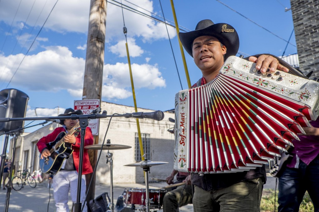 The pre-ride party features lively Norteña music, or Mexican Polka. Milwaukee's formerly Polish immigrants on near south side have shifted to mostly Mexican immigrants now, but luckily both cultures love Polka.