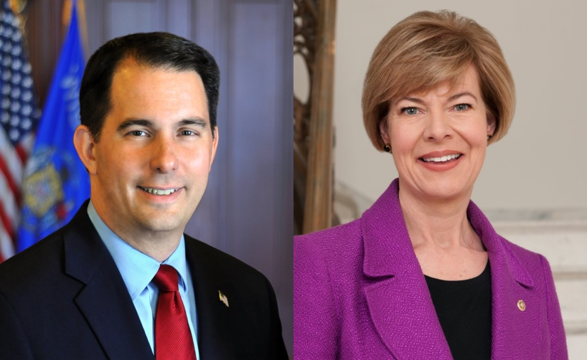 Scott Walker and Tammy Baldwin.
