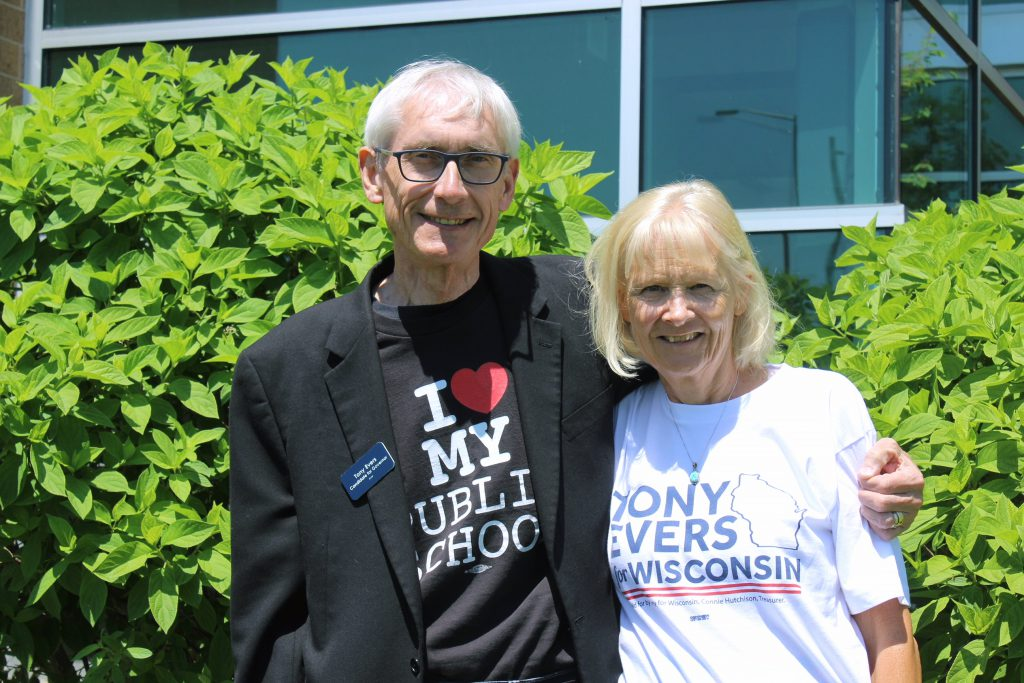 Democratic gubernatorial candidate Tony Evers, pictured with his wife, Kathy, has been Wisconsin's state schools superintendent since 2009. Photo courtesy of Tony Evers.
