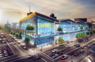 New convention center. Rendering by Populous.