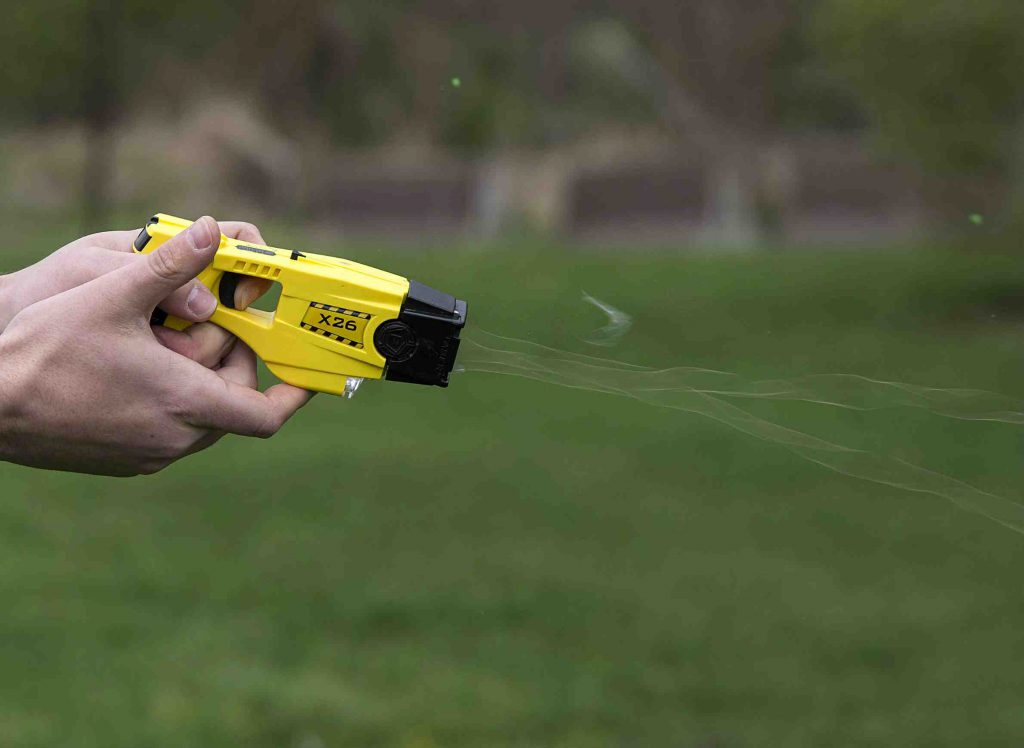 Taser. Photo by Tech. Sgt. Jonathan Fowler/U.S. Air Force.