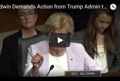 Baldwin Continues Demanding Action from Trump Administration to Hold Drug Companies Accountable for Massive Price Hikes