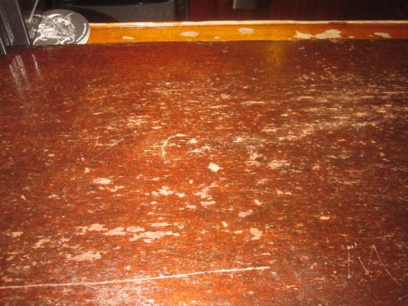 Mahogany bar top. Photo by Michael Horne.