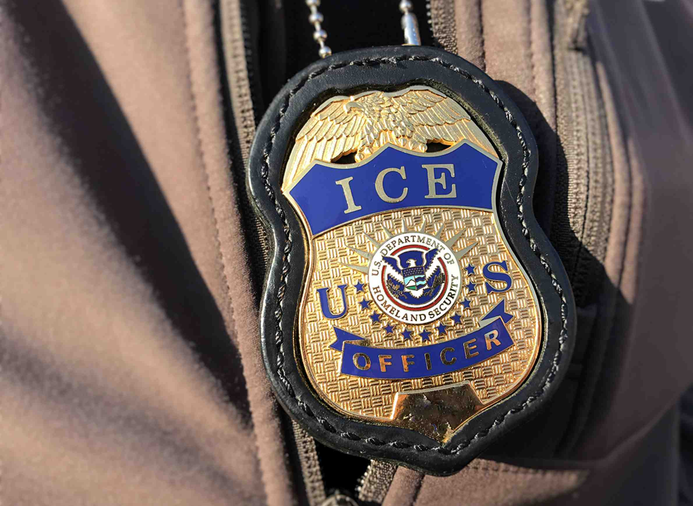 I.C.E. badge. Photo from U.S. Immigration and Customs Enforcement.