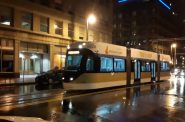 Late night streetcar test. Video by Warren Johnston.