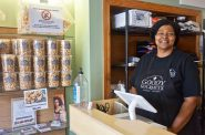 Jackie Chesser, owner of Gourmet Goods, will be selling her popcorn at Black Arts Fest MKE. Photo by Ryeshia Farmer.