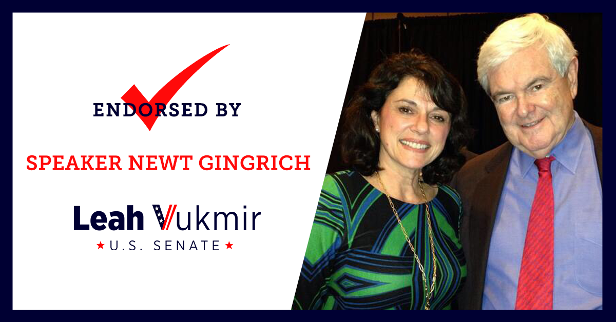 Speaker Newt Gingrich Endorses Leah Vukmir for U.S. Senate