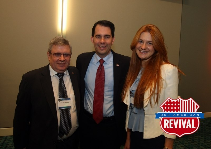 Alexander Torshin, Scott Walker and Maria Butina.