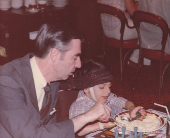 Jeff Erlanger and Mister Rogers first meeting in Milwaukee.