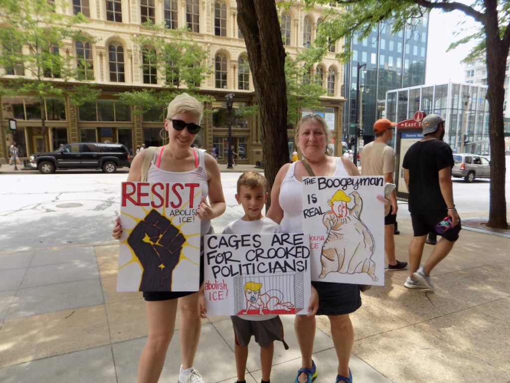 Keep Families Together rally in Milwaukee. Ximena Conde/WPR.