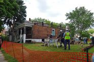 A home being deconstructed. Photo from the City of Milwaukee.