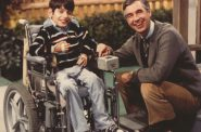 Jeff Erlanger and Mister Rogers on Set - First Aired in 1981.