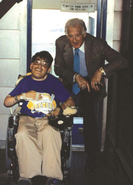 Jeff Erlanger with Bob Uecker.