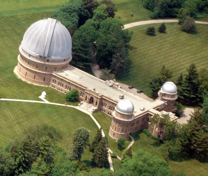 Yerkes Observatory. Photo is in the Public Domain.