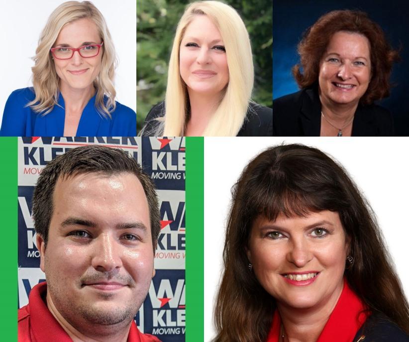 Sarah Godlewski, Cynthia Kaump, Dawn Marie Sass, Travis Hartwig and Jill Millies.
