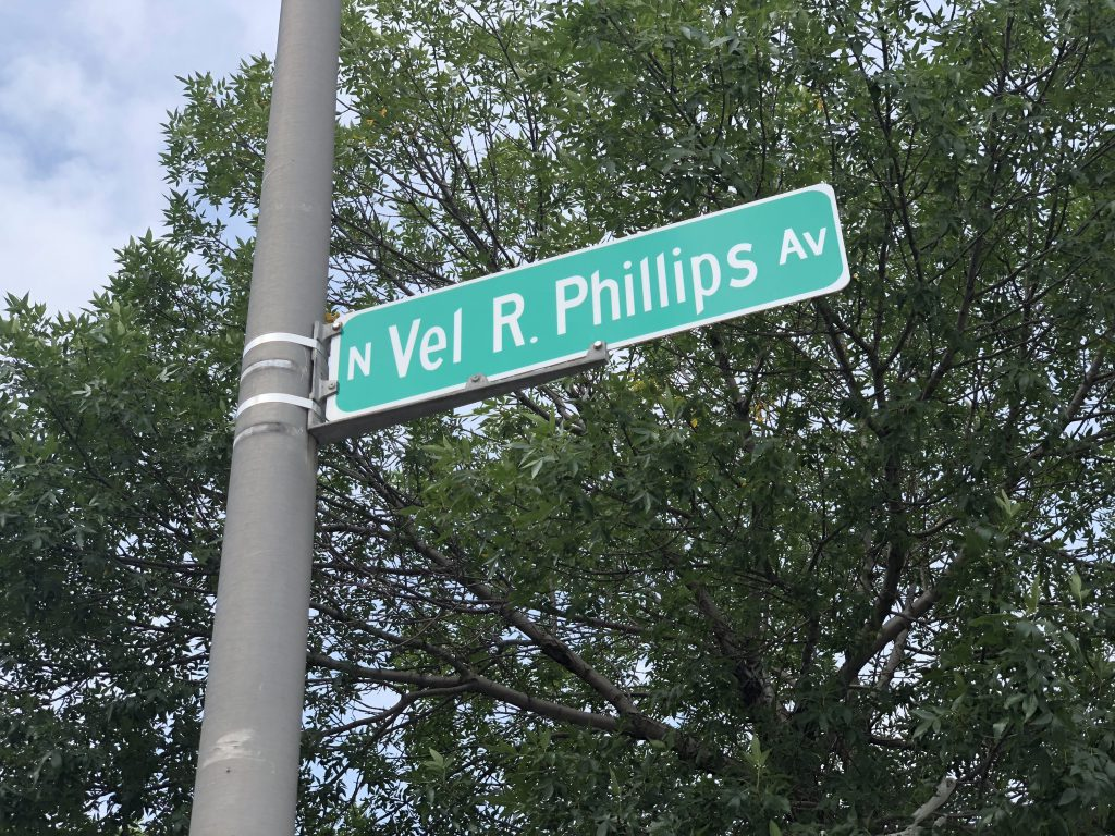 N. Vel R. Phillips Ave. Photo by Jeramey Jannene.