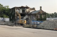 Gettelman Brewery malt house demolition. Photo by Jeramey Jannene.