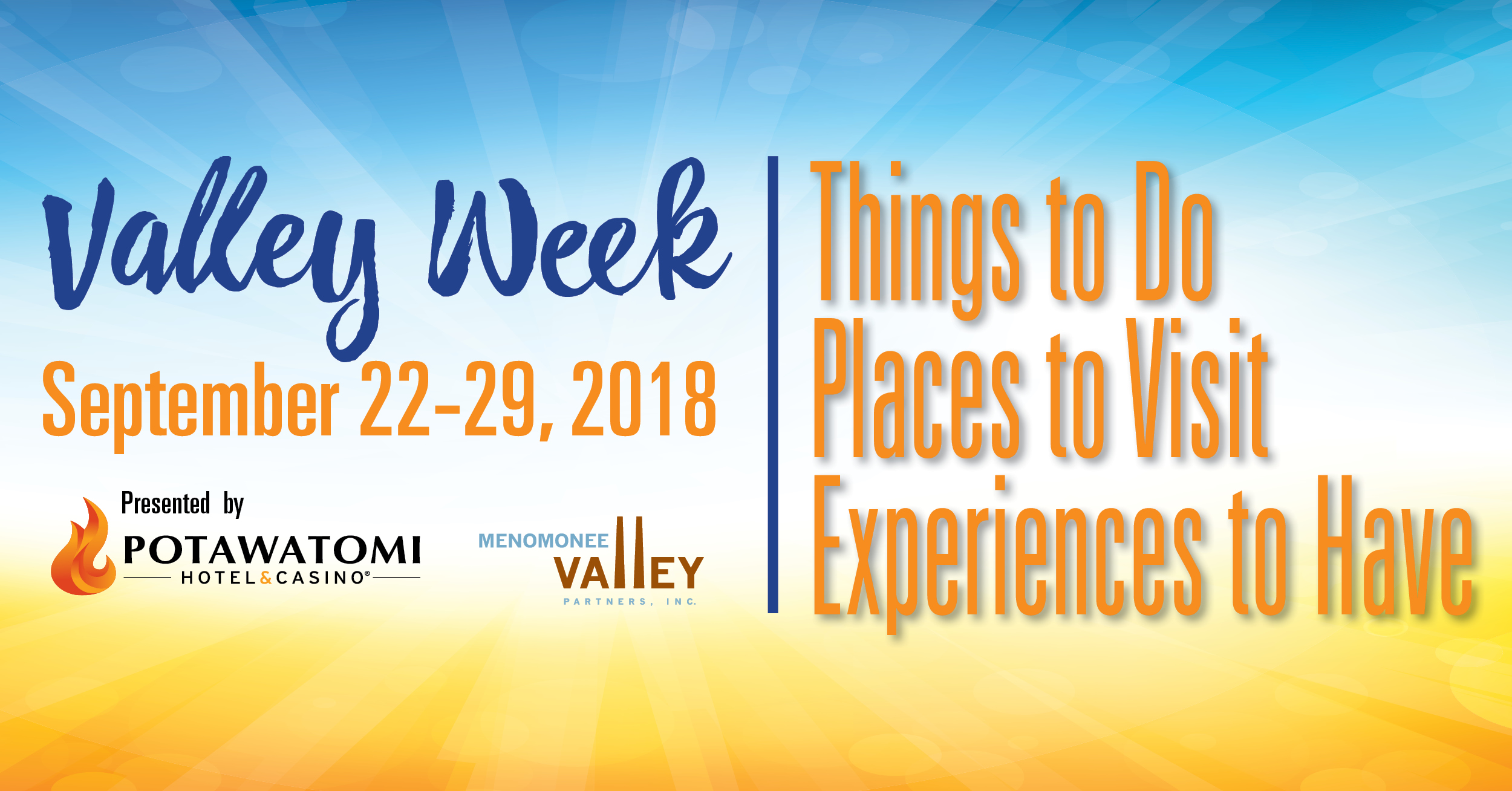 Valley Week runs September 22-29