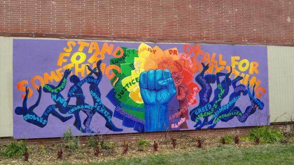 New mural at Running Rebels Community Organization. Photo by Zach Komassa.