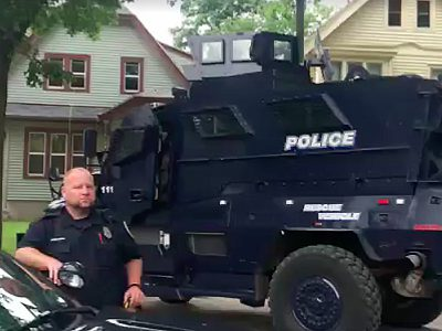 Police Use Armored Vehicle To Serve Warrant