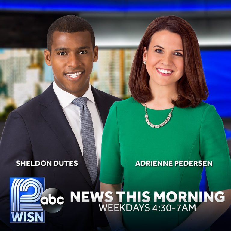 Sheldon Dutes and Adrienne Pedersen. Photo couresty of WISN 12.