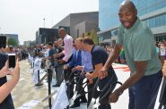Ribbon cutting at the Fiserv Forum. Photo by Jack Fennimore.