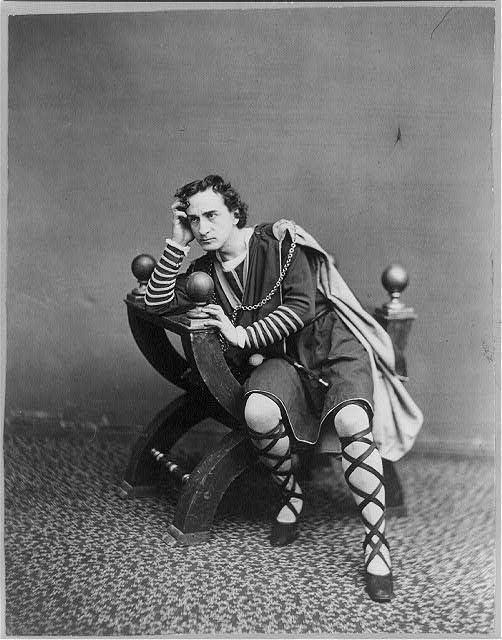 American actor Edwin Booth as Hamlet. Photo by J. Gurney & Son, N.Y. [Public domain], via Wikimedia Commons.