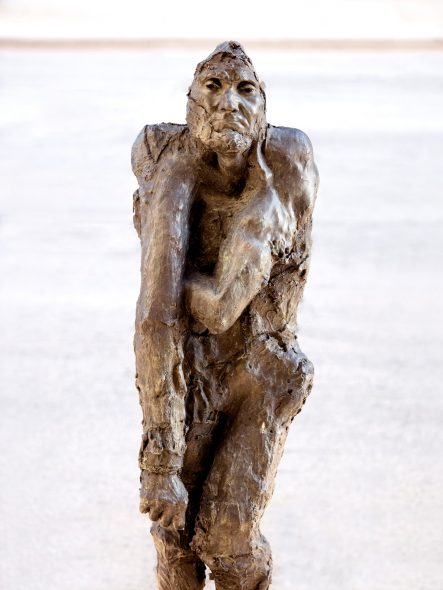 Liz Glynn, Untitled (Burgher with extended arm), 2014, bronze, ed. II/VI lifetime casts, II APs & VI posthumous casts, 70 x 26 x 23.25 inches. Courtesy of Sculpture Milwaukee. Photo by Kevin J. Miyazaki.