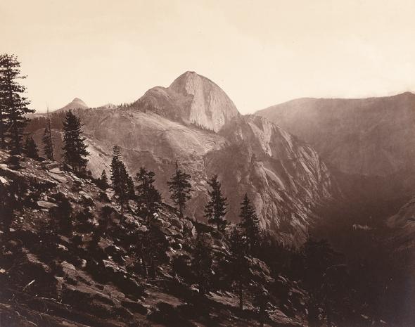 Half Dome, Yosemite Valley, California, 1872. Photo by Eadweard Muybridge.