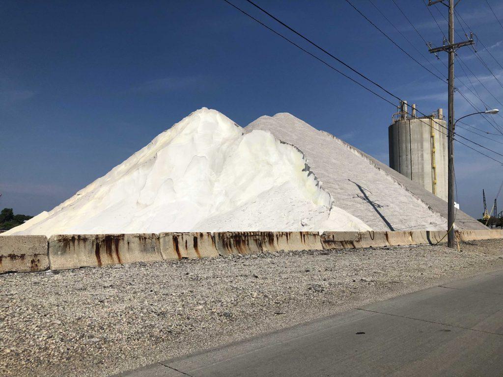 Salt at the Port of Milwaukee. Photo by Jeramey Jannene.