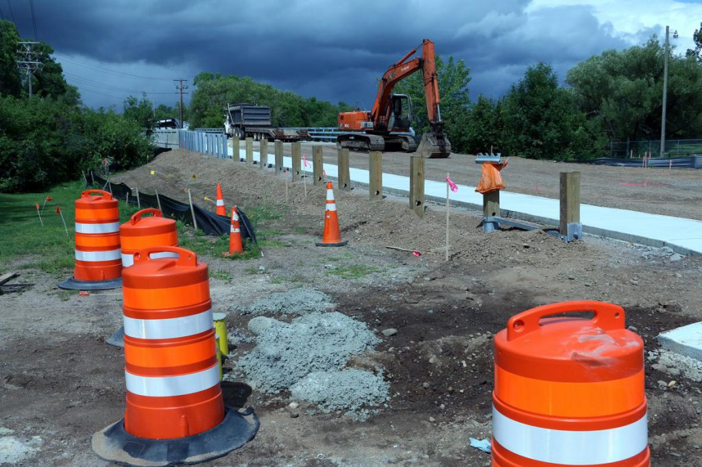 Work is finishing up on the County Highway H bridge rehabilitation in Phillips, Wisconsin. Photo by Rich Kremer/WPR.