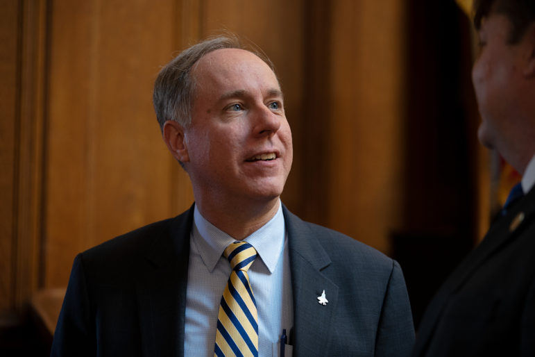 Assembly Speaker Robin Vos, R-Rochester, said an analysis by the Wisconsin Center for Investigative Journalism fails to take into account bipartisan agreements struck in recent years that made floor debate in the Wisconsin Assembly more efficient and predictable and curbed lengthy recesses for partisan caucusing. He is seen here at the State of the State address at the Wisconsin State Capitol in Madison, Wis., on Jan. 24, 2018. Photo by Coburn Dukehart / Wisconsin Center for Investigative Journalism.