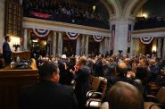 Gov. Scott Walker speaks at the State of the State address at the Wisconsin State Capitol in Madison, Wis., on Jan. 24, 2018. An investigation by the Wisconsin Center for Investigative Journalism has found that since Walker was elected, the length of time bills are deliberated in the Wisconsin Legislature dropped significantly as lawmakers increasingly fast-tracked bills. Photo by Coburn Dukehart/Wisconsin Center for Investigative Journalism.