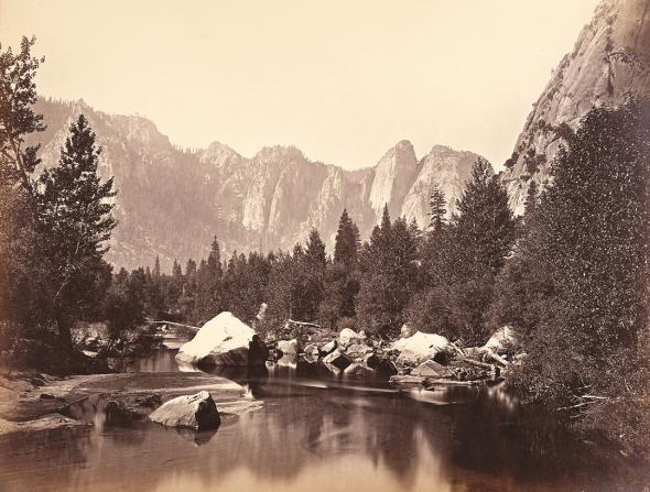 Yosemite Valley. Photo by Carleton E. Watkins.